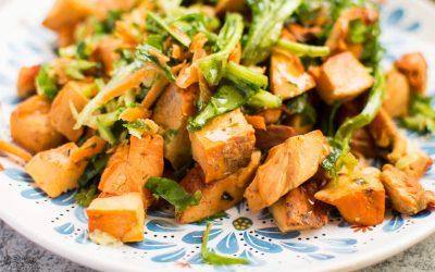 Sárga gévagomba saláta