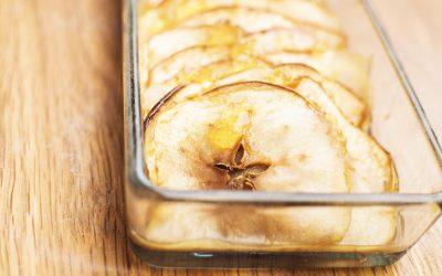 Tokaji aszúzselés pikáns sült alma