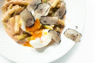 Szarvasgombás zöldbab főzelék