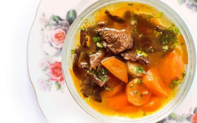 Rókagomba leves