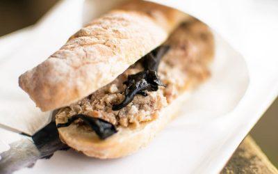 Trombitagombás nyulas szendvics