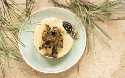 Marcipános-zölddiós-szilvás morzsa