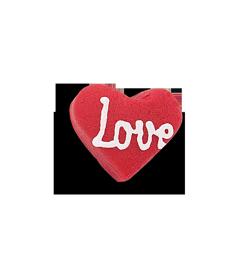 SZÍV ALAKÚ MARCIPÁNDESSZERT 13g – LOVE FELIRATTAL
